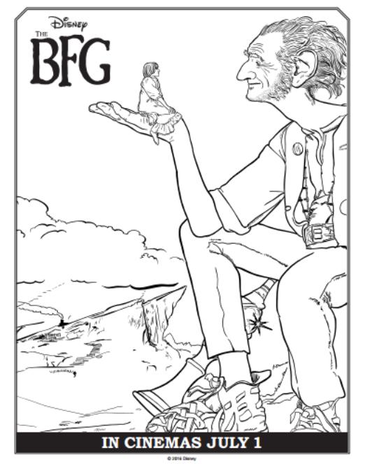 The BFG Coloring Sheets