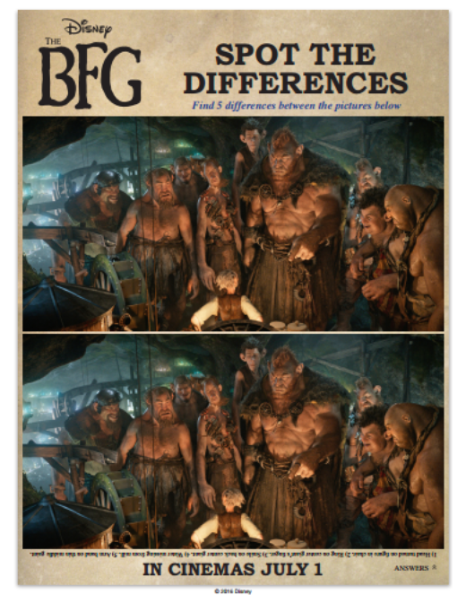 The BFG Spot the Difference