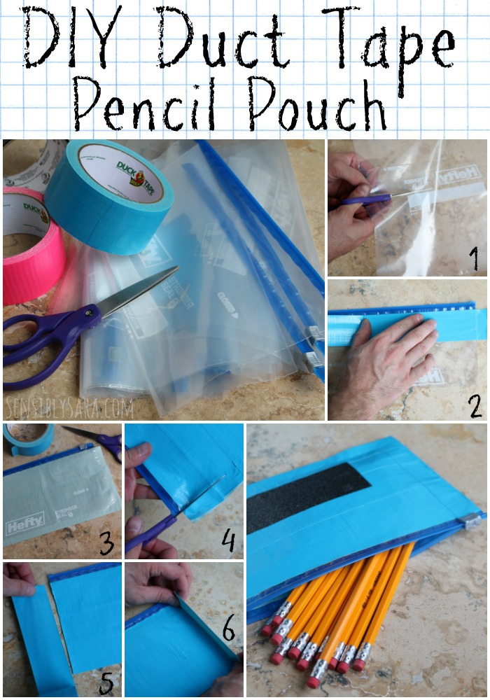 Diy Duct Tape Pencil Pouch For Back To School Ad Ducktoschool
