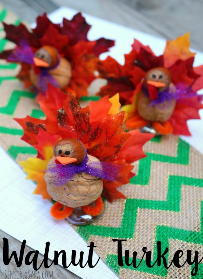 Walnut Turkey Craft | SensiblySara.com