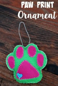 Puppy Stocking Stuffers and a Paw Print Ornament Tutorial
