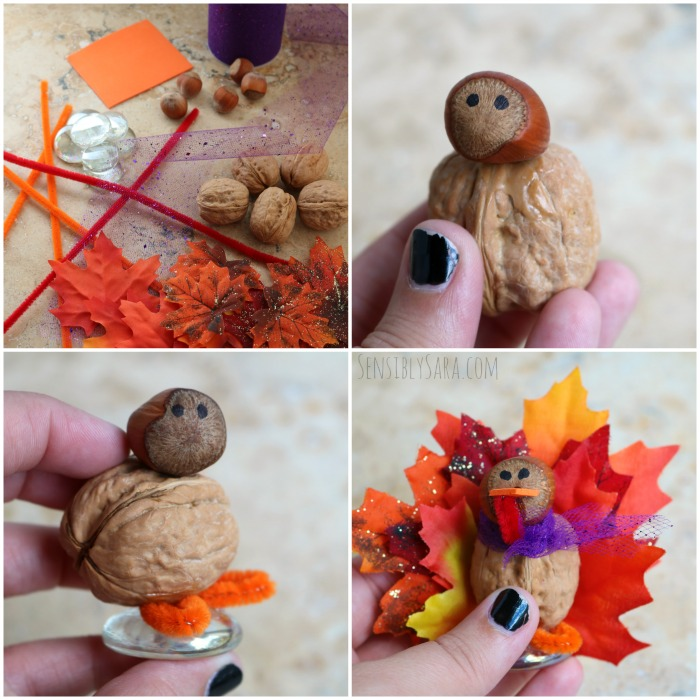 Walnut Turkey Instructions Collage | SensiblySara.com
