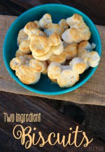 The Best Biscuits: 2 Ingredient Biscuits Recipe [AD]