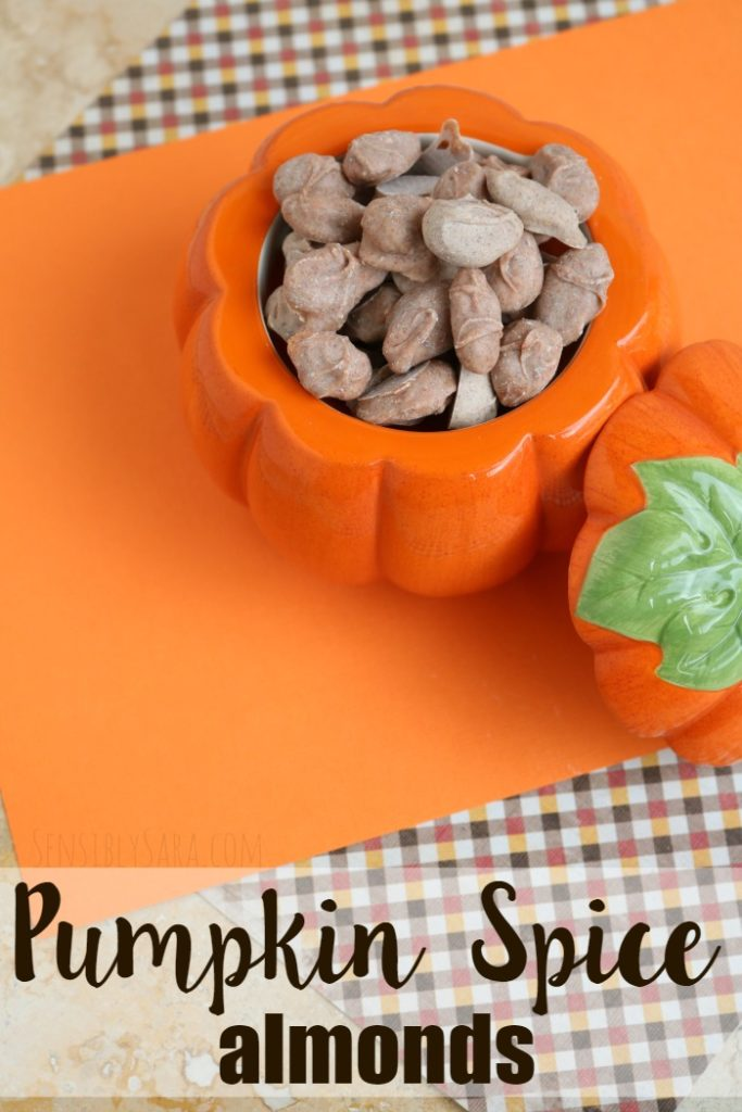 Pumpkin Spice Almonds   SensiblySara.com