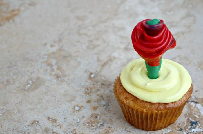 Beauty and the Beast Rose Cupcakes | SensiblySara.com