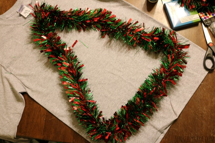 DIY Ugly Christmas Sweater Step 2 | SensiblySara.com