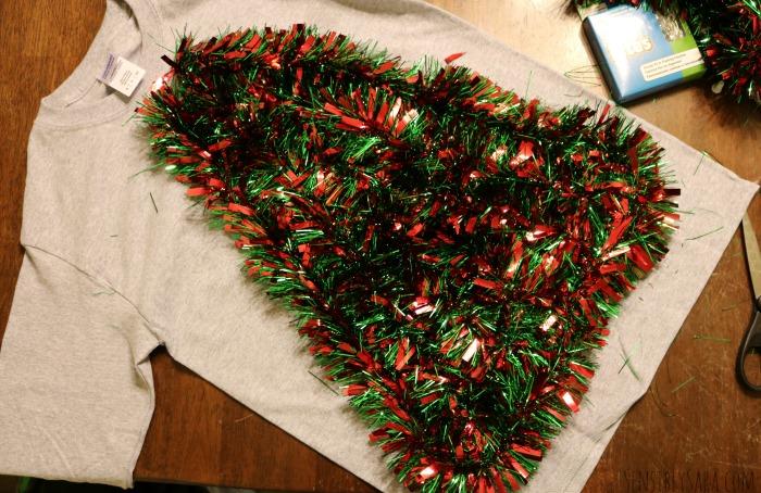 DIY Ugly Christmas Sweater Step 3 | SensiblySara.com