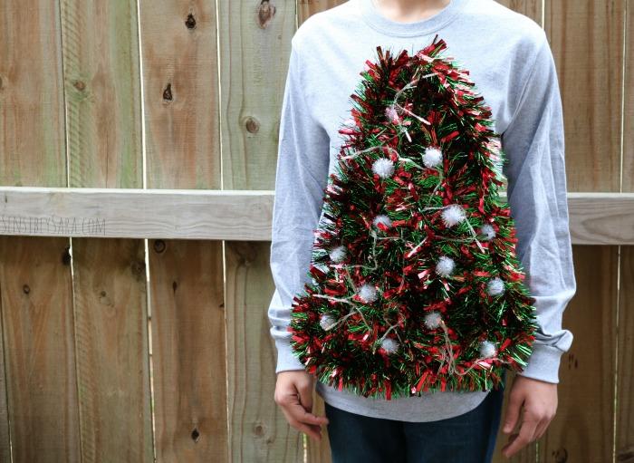 Finished DIY Ugly Christmas Sweater | SensiblySara.com