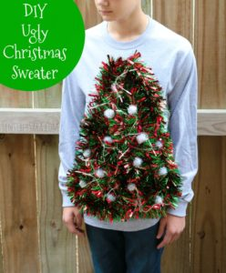 DIY: Ugly Christmas Sweater Idea – Tree with Working Lights