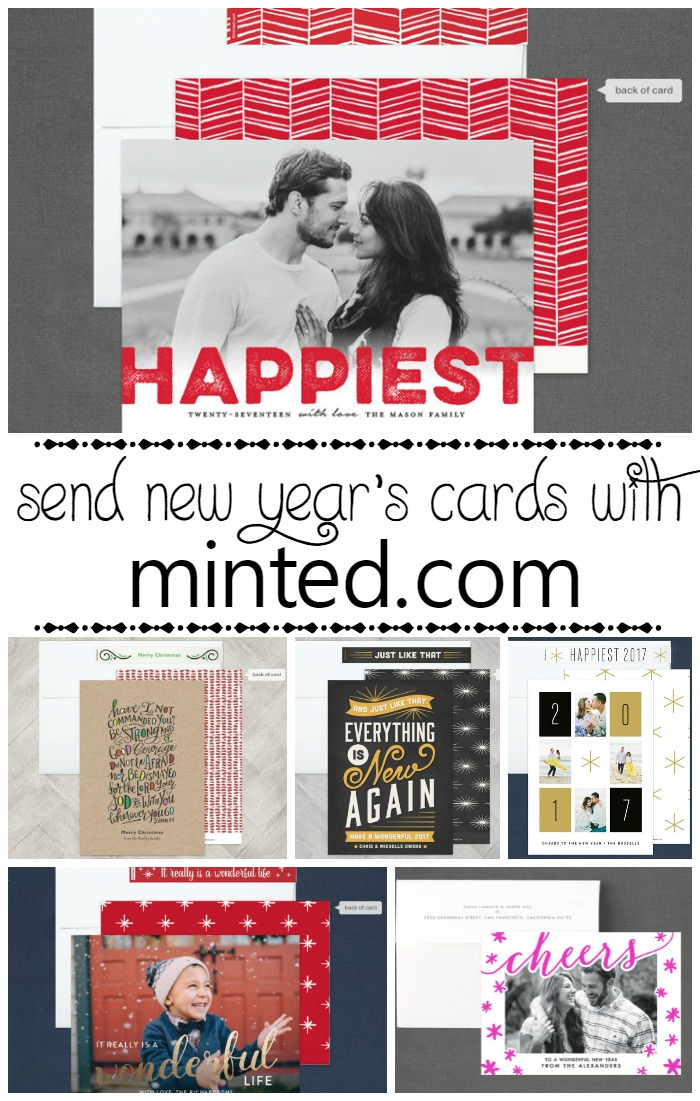 Minted New Year's Cards   SensiblySara.com