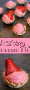 3 Ingredient No Bake Strawberry Mousse Pie Recipe