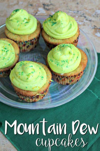 Mountain Dew Cupcakes   SensiblySara.com
