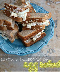 Crowd Pleasing Egg Salad Sandwich Recipe [AD] #SandwichWithTheBest