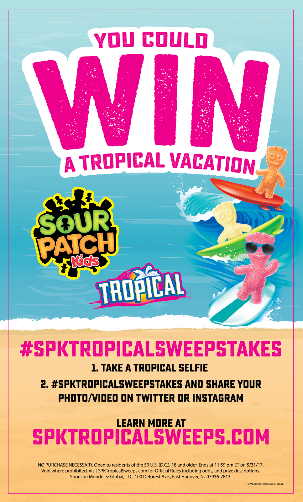 Sour Patch Kids Tropical Sweepstakes