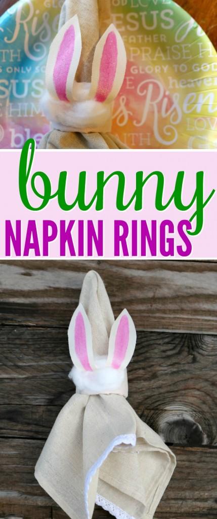 Bunny Napkin Rings Tutorial | SensiblySara.com