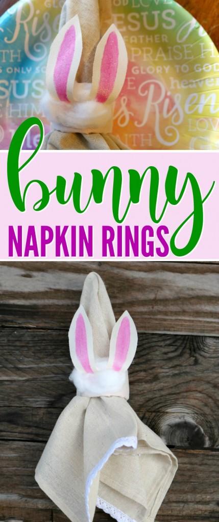 Easter Bunny Napkin Rings | SensiblySara.com
