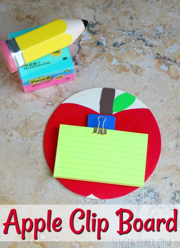 Back to School Teacher Gift Apple Clip Board | SensiblySara.com