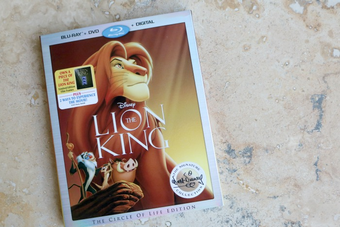 The Lion King on Blu-Ray | SensiblySara.com