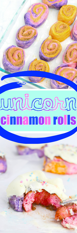 Unicorn Cinnamon Rolls | SensiblySara.com
