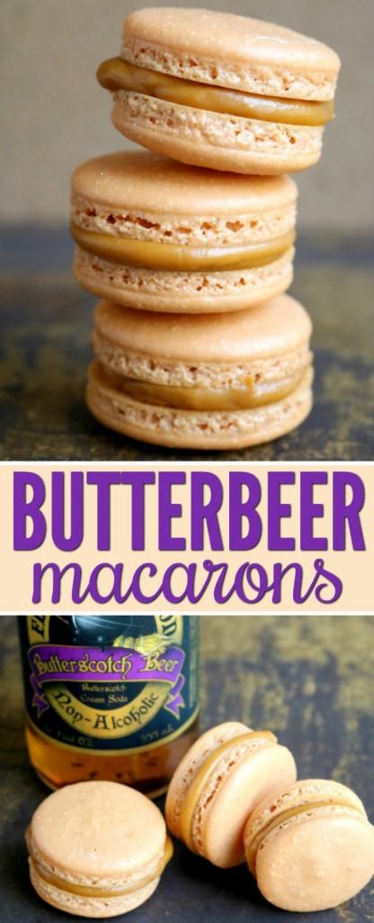 Harry Potter Butterbeer Macarons Recipe | SensiblySara.com