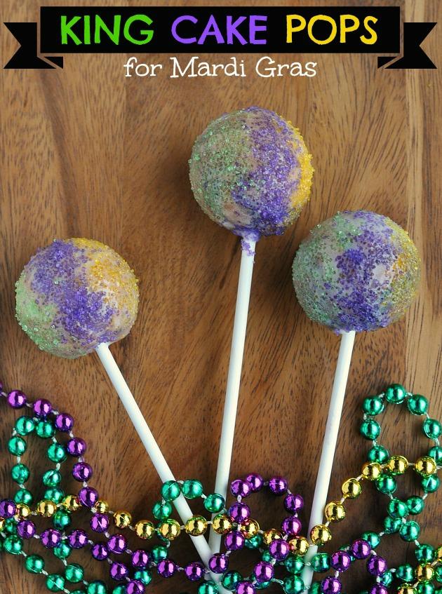 King Cake Pops Recipe forMardi Gras | SensiblySara.com