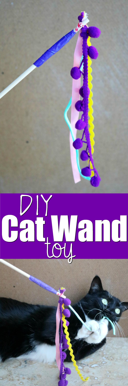 DIY Cat Wand Toy   SensiblySara.com