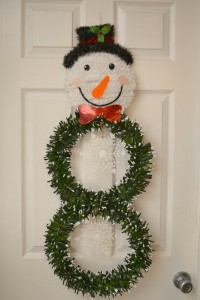 DIY Dollar Store Snowman Wreath