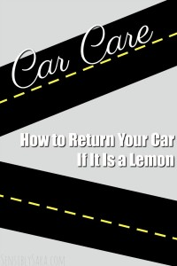 How to Return Your Car If It Is a Lemon