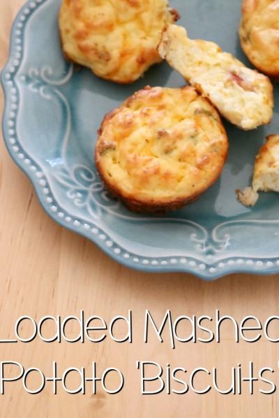 Loaded Mashed Potato Biscuits   SensiblySara.com