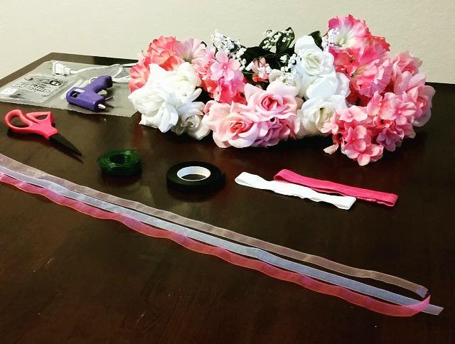 DIY Flower Crown Supplies | SensiblySara.com