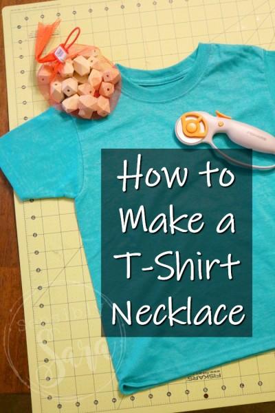 How to Make a T-Shirt Necklace Tutorial | SensiblySara.com