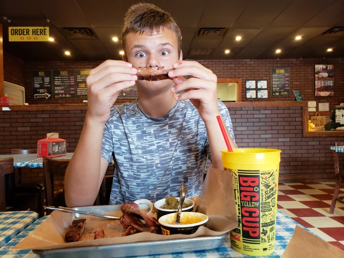 Mother-Son Date to Dickey's Barbecue Pit for All You Can Eat Ribs in