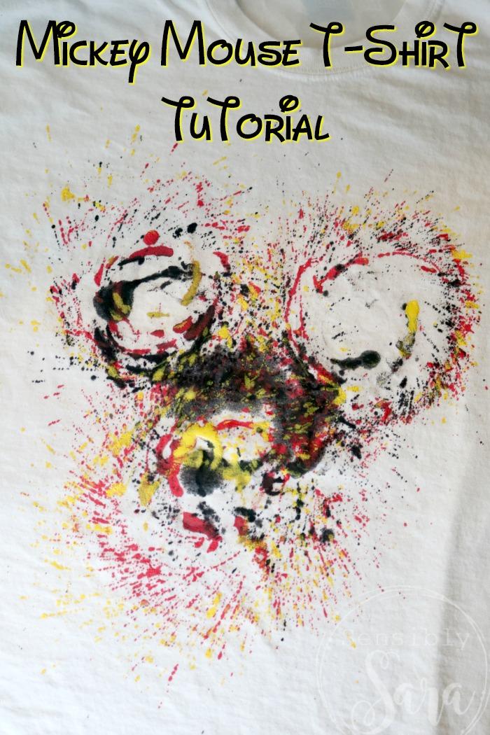 Diy Modern Mickey Mouse T Shirt Tutorial A Fidget Spinner Craft