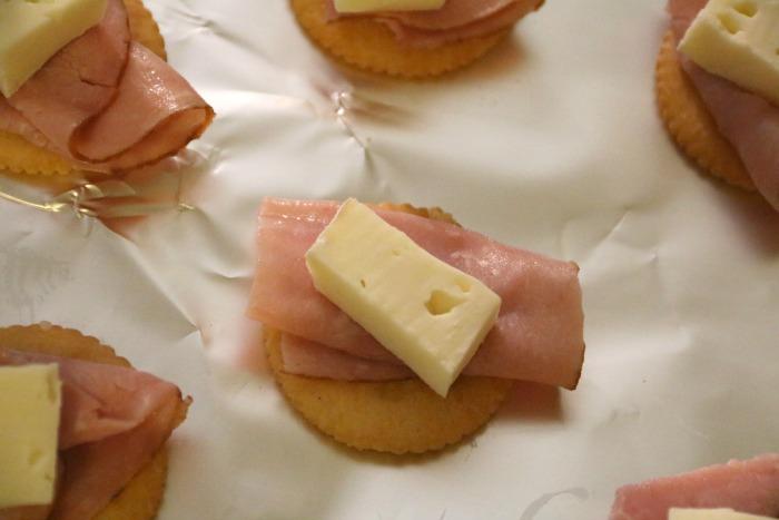 In Process Ham and Brie Bites | SensiblySara.com