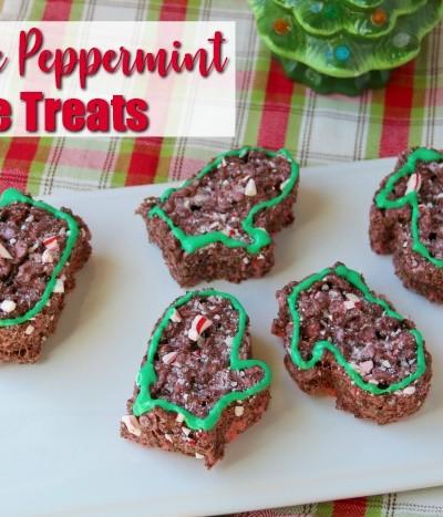 Chocolate Peppermint Rice Treats Recipe | SensiblySara.com