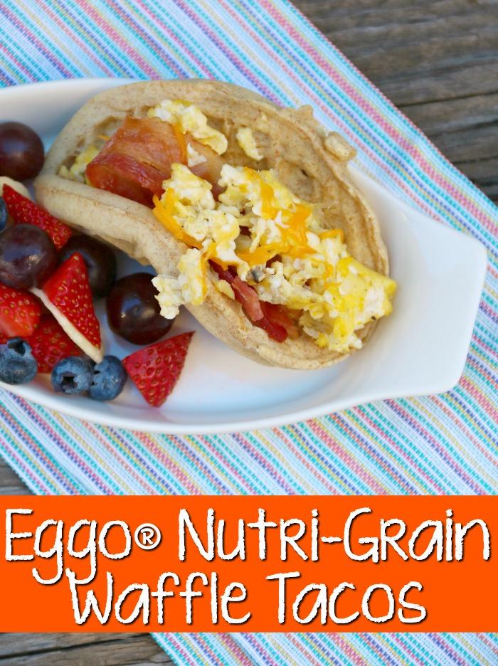 Eggo Low Fat Nutri Grain Waffle Tacos | SensiblySara.com