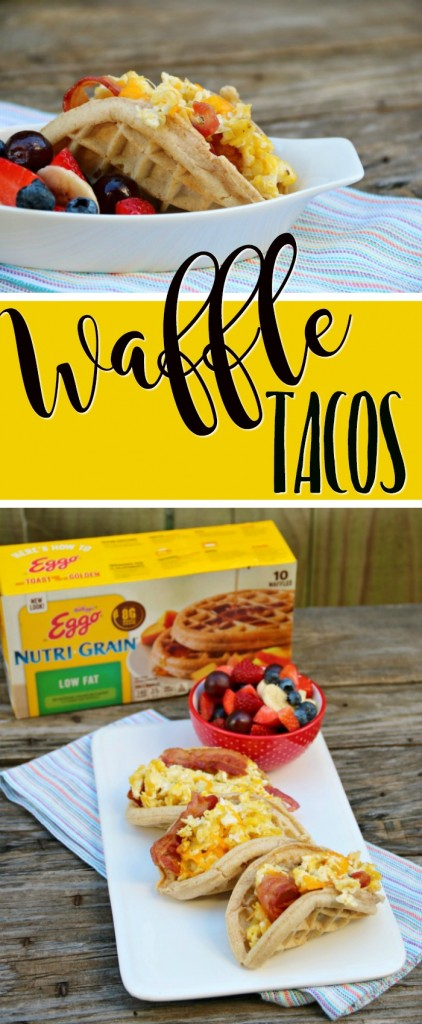 Recipe for Breakfast Waffle Tacos | SensiblySara.com