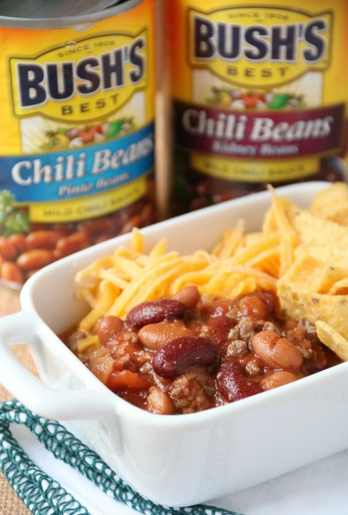 Chili Recipe with Bush's Chili Beans | SensiblySara.com