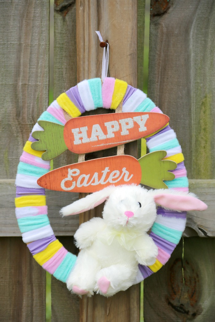 Easter Egg Rag Wreath Craft