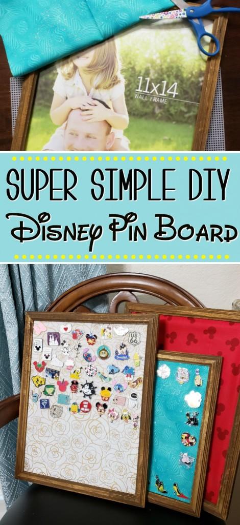Super Simple DIY Disney Pin Board   SensiblySara.com