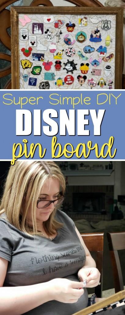 Super Simple DIY Disney Pin Board Display   SensiblySara.com