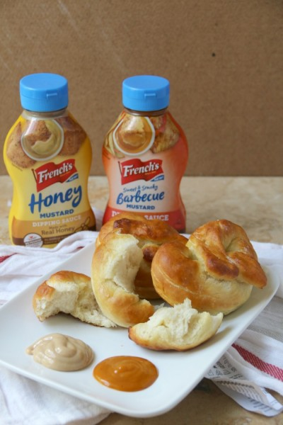 Homemade Pretzels with French's Dipping Sauces | SensiblySara.com