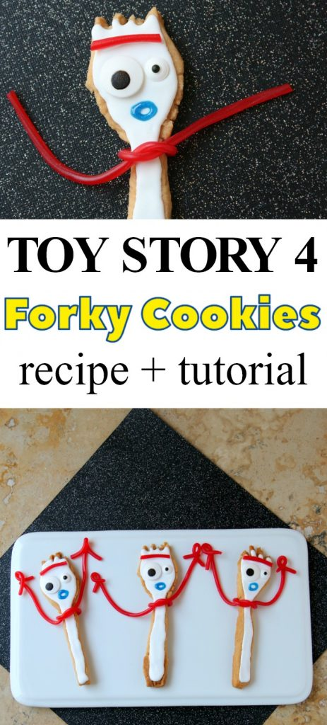 Toy Story 4 Forky Cookies Recipe + Tutorial   SensiblySara.com