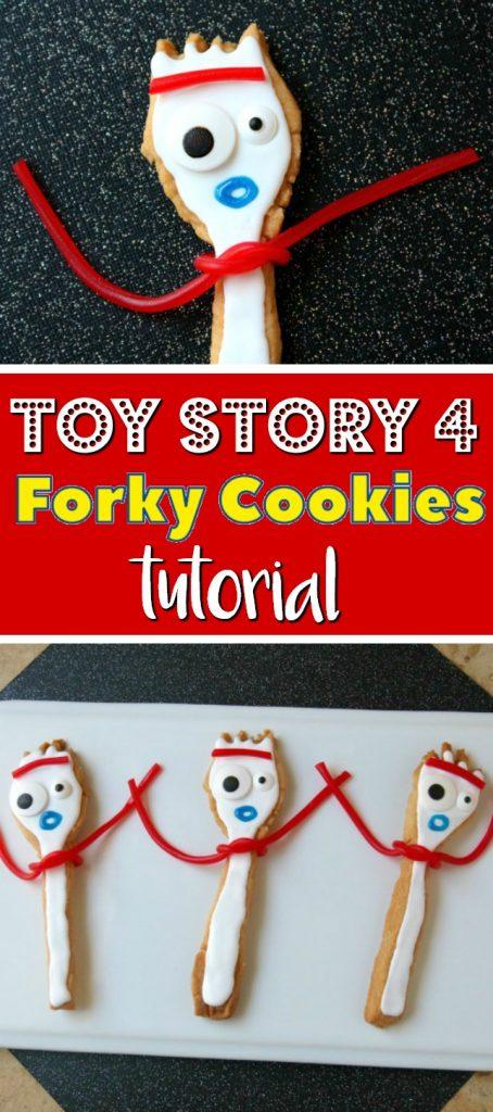Toy Story 4 Forky Cookies Tutorial   SensiblySara.com