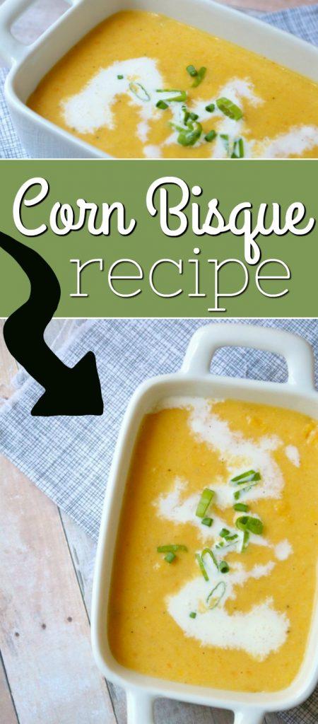Corn Bisque Recipe | SensiblySara.com