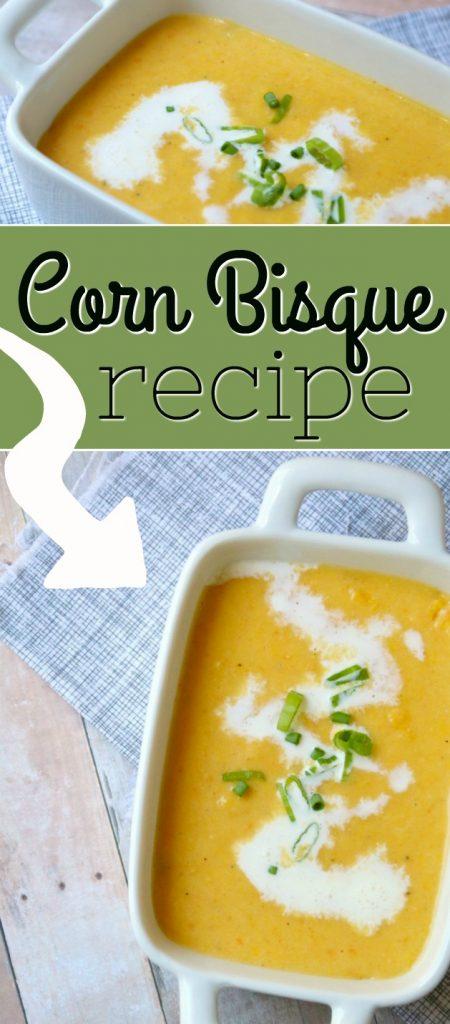 Sweet Summer Corn Bisque Recipe | SensiblySara.com