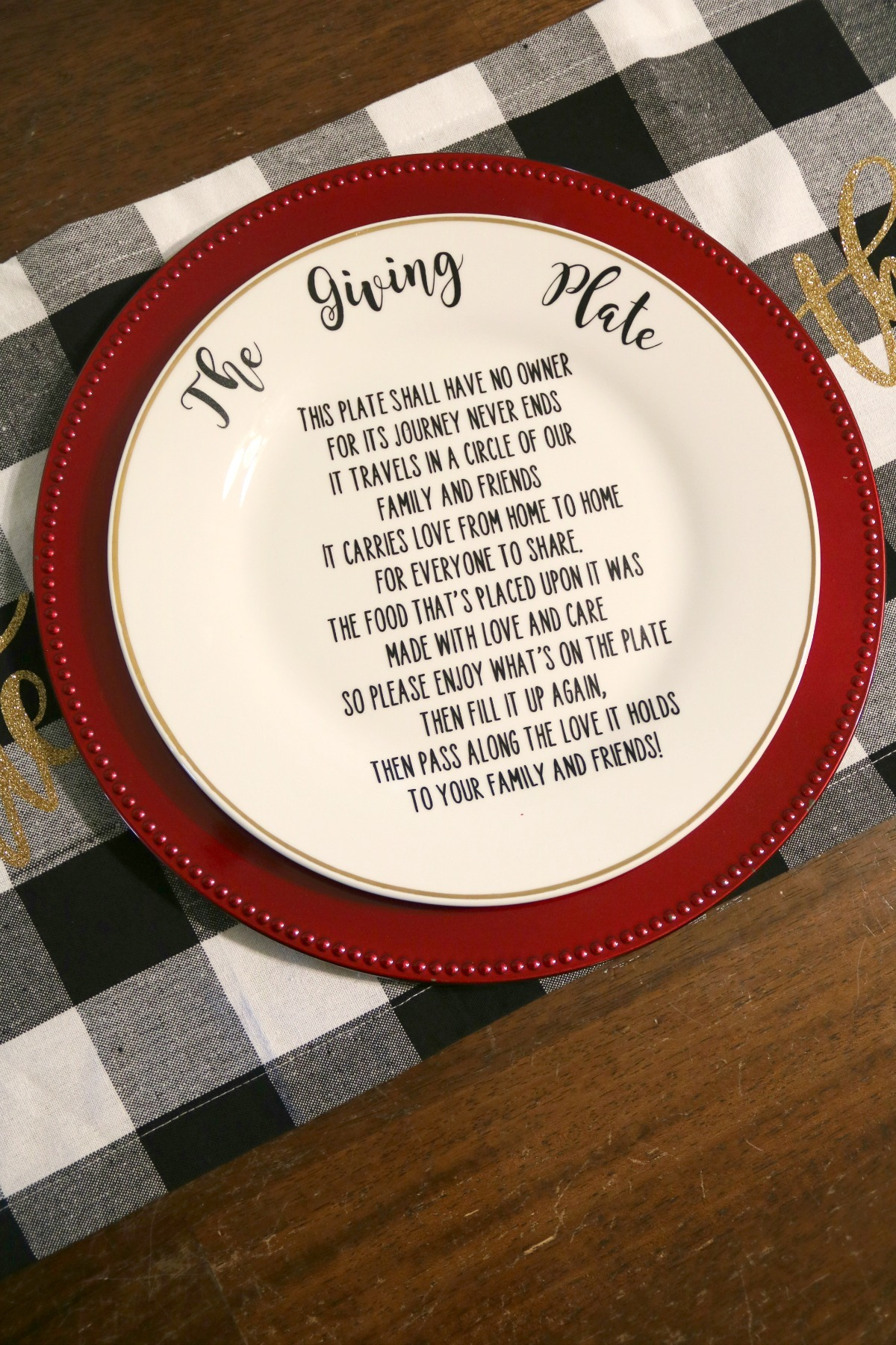 Make Your Own Friends Family Giving Plate Diy Cricut Tutorial