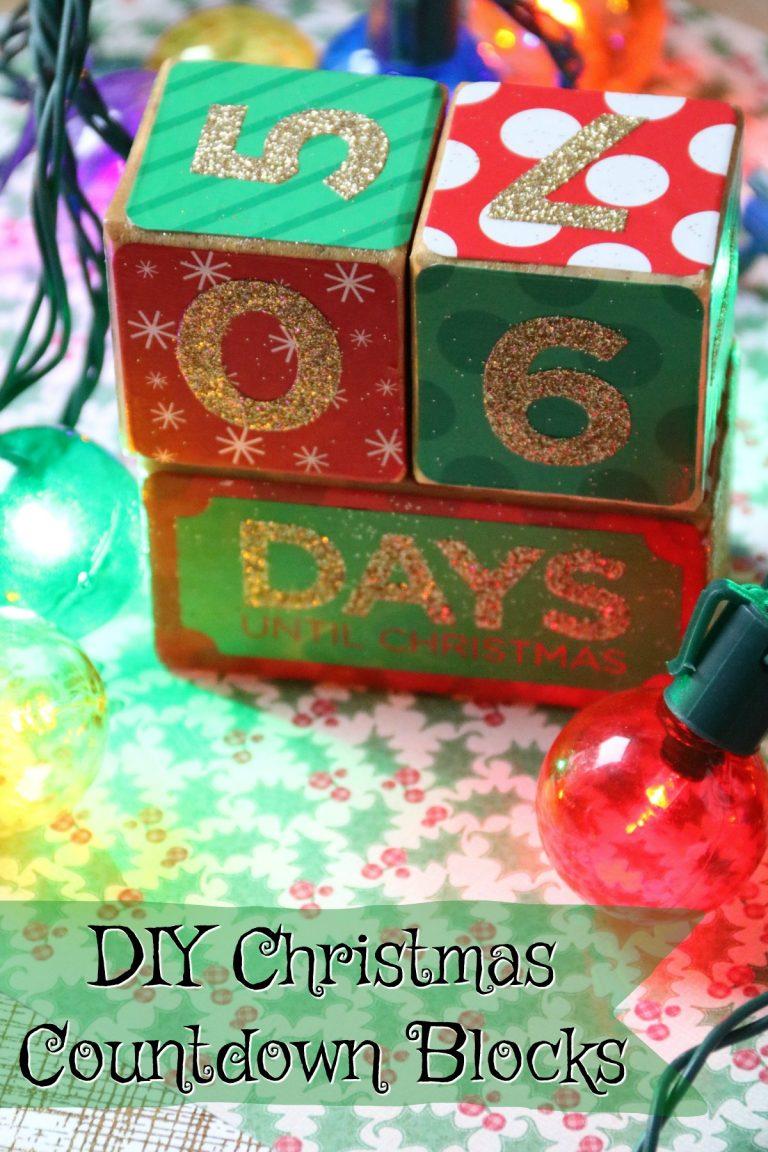 DIY Countdown Blocks