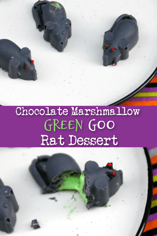 Chocolate Marshmallow Green Goo Rat Dessert for Halloween